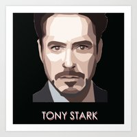 tony stark Art Prints featuring Tony Stark by Lany Nguyen