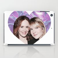ahs iPad Cases featuring Sarah Paulson and Lily Rabe AHS Freakshow by IrasHorrorStory