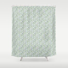 Abstract Watercolor Forest Shower Curtain