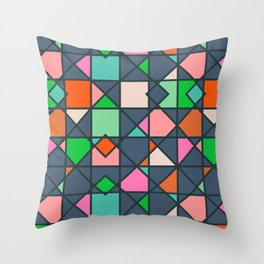 Abstract geometric pattern Throw Pillow