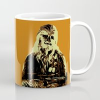 chewbacca Mugs featuring Chewbacca by iankingart
