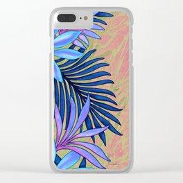 A Run Through the Jungle Blues Clear iPhone Case