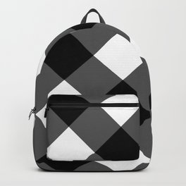 black and white 3 Backpack