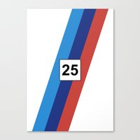 racing Canvas Prints featuring RACING COLOURS- BMW RACING by MATT WARING