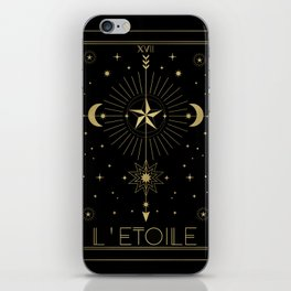 L'Etoile or The Star Tarot Gold iPhone Skin