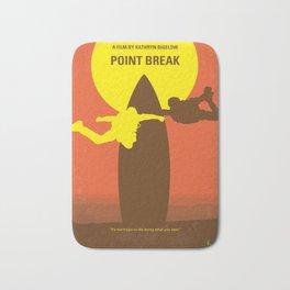 No455 My Point Break minimal movie poster Bath Mat