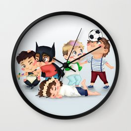 Chibi kids OT5 Wall Clock
