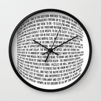 hamlet Wall Clocks featuring Hamlet by ChandlerLasch
