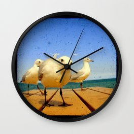 Seagulls - number 4 from set of 4 Wall Clock