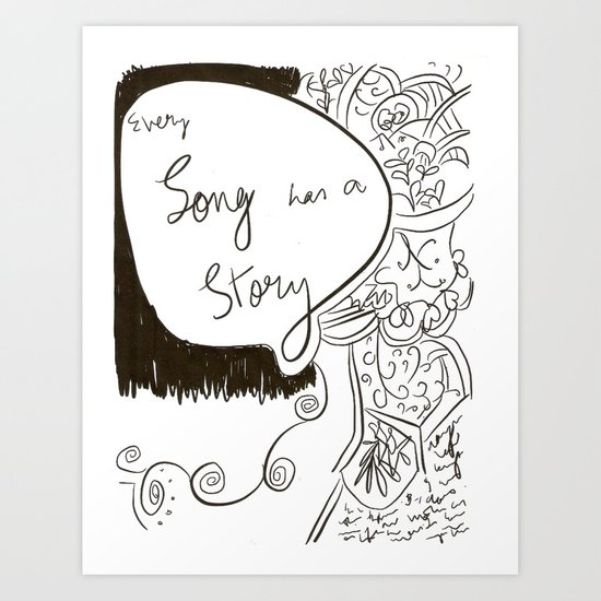 Every Song has a Story Art Print
