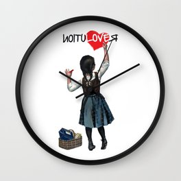 Banksy World Peace Revolution Wall Clock