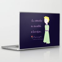 little prince Laptop & iPad Skins featuring Cute little prince by Pendientera