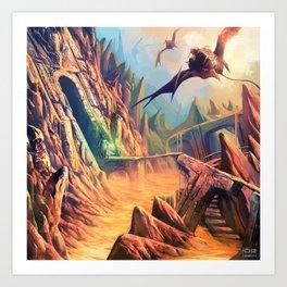 Chased Through Lava Art Print
