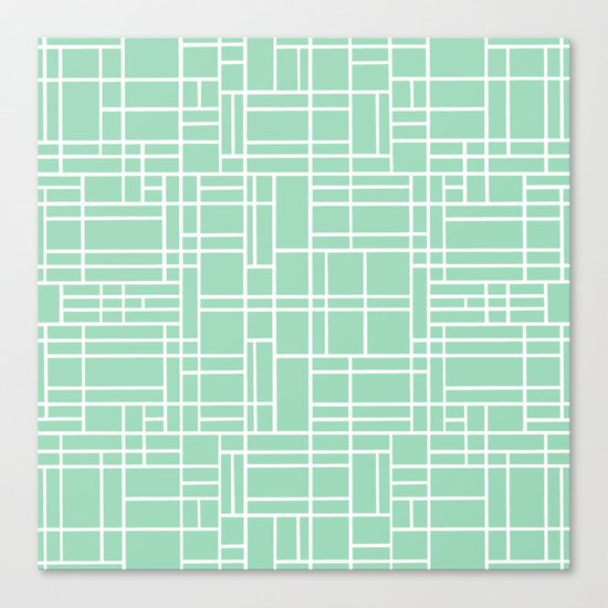 Map Outline Mint Canvas Print