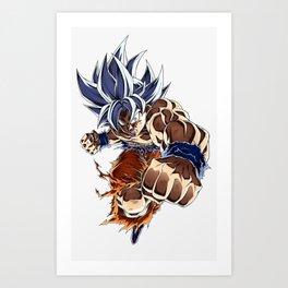 Son Goku ultra instinct  Art Print