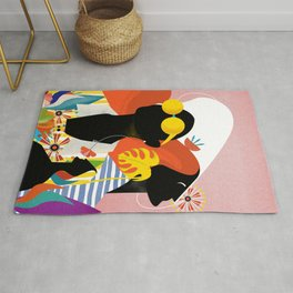 Field of floral souls Rug