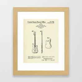 Bass Guitar-1960 Framed Art Print