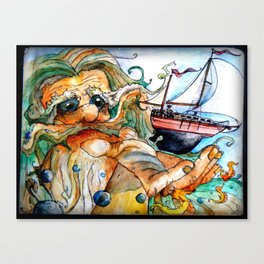 Old Man & The Sea  Canvas Print