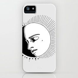 Half Moon Face iPhone Case