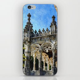 Gothic tracery at Bucaco, central Portugal iPhone Skin