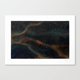 Copper Spacescape Canvas Print