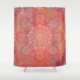 """Coral & Rosewood Mandala (pattern)"" Shower Curtain"