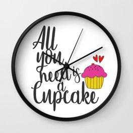 Cupcake Lover Wall Clock