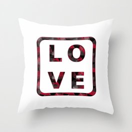 """Colorful word """"LOVE"""". Throw Pillow"""