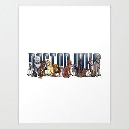 Doctor Who FanArt Dogs Art Print