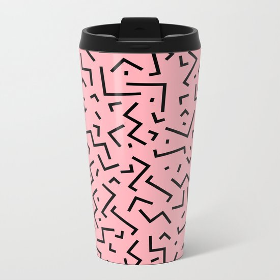 Memphis pattern 34 Metal Travel Mug