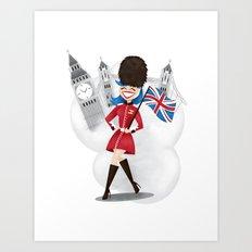 UK Girl Art Print