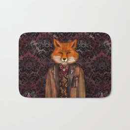 Portrait of the mysterious Lord Fox Bath Mat