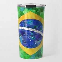 BRASIL em progresso Travel Mug