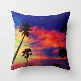 Unicorn clouds Throw Pillow