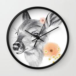 Flora & Fawn Wall Clock