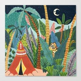 Jungle Tipi Tiger Canvas Print