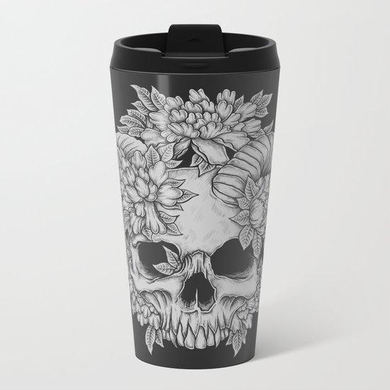 Japanese Skull Metal Travel Mug