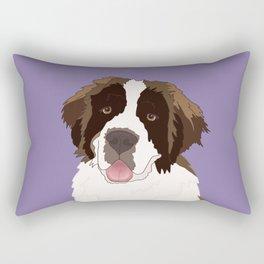 Saint Bernard Purple  Rectangular Pillow