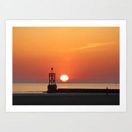 Sinking into the sea Art Print