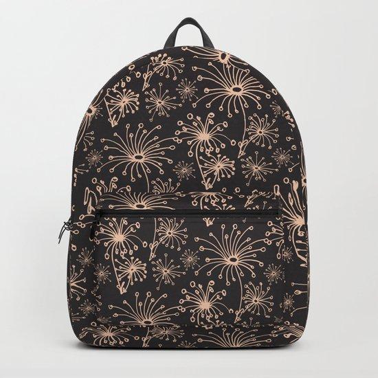 Stylized Dandelion Dark #society6 #decor #buyart Backpack