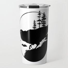 Raven Silhouette II Travel Mug