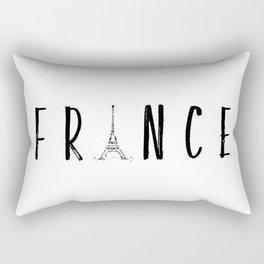 FRANCE Typography | Panoramic Rectangular Pillow