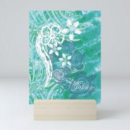 Hawaiian - Samoan - Polynesian Ocean Spray Honu Tribal Mini Art Print