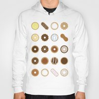 donuts Hoodies featuring Donuts by Dorothy Leigh
