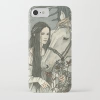 nan lawson iPhone & iPod Cases featuring enmeshed in Nan Elmoth by Liga Klavina