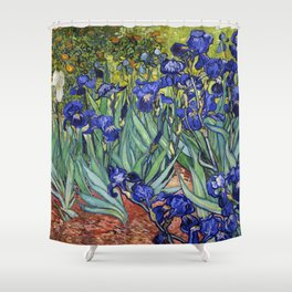 Irises by Vincent van Gogh Shower Curtain