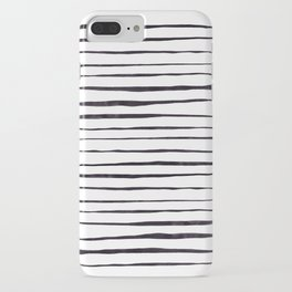 Black Ink Linear Experiment iPhone Case