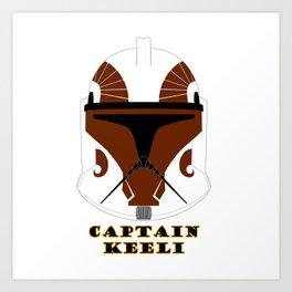 Helmet clone trooper Captain Keeli Art Print