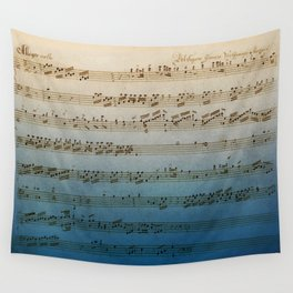 Handwritten Mozart Wall Tapestry