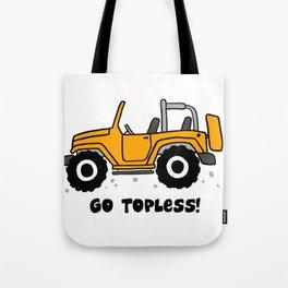 Jeep - Go topless (Orange) Tote Bag